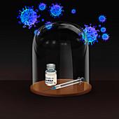 Covid-19 vaccine, conceptual illustration