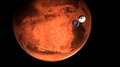 Mars 2020 spacecraft cruise stage separating, illustration