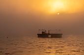 Sunrise over Stewart Lake, Michigan, USA