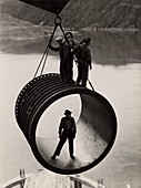 Construction of the Grand Coulee Dam, Washington, USA