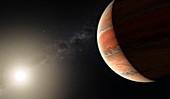 Exoplanet WASP-19b, illustration