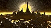 Exoplanet surface, illustration