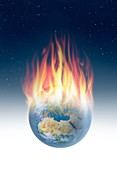 Global warming, conceptual illustration