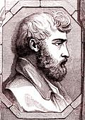 Johann Burckhardt, Swiss explorer, 19th Century illustration