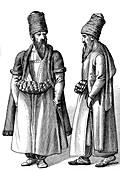 19th Century Persian men, illustration
