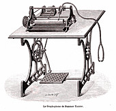 19th Century graphophone, illustration