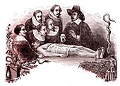 19th Century anatomy lesson, illustration