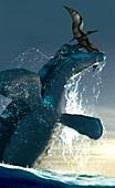 Artwork of marine reptile liopleurodon