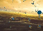 Phosphine on Venus, conceptual illustration