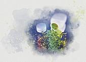Bottle of pills, illustration