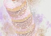 Stack of doughnuts, illustration