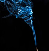Smoke from an incense stick