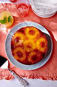 Upside Down Ananas-Kokos-Torte