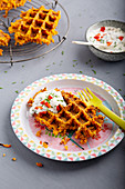 Pumpkin and curry waffles