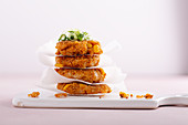 Couscous and sweetcorn fritters