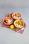 Apple and almond rice pudding