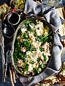 Tuna, spinach and broccolini baked risotto