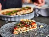Vegan vegetable quiche