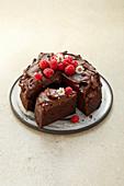 Lactose-free chocolate cake