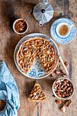 Karamell-Nuss-Kuchen
