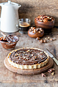 Chocolate nut pie