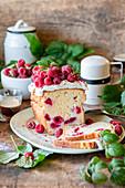 Pound raspberry cake