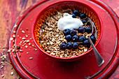 Joghurtmüsli mit Blaubeeren