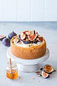 Fig and walnut cheesecake