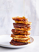 Quick pancakes without yeast