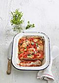 Gratiniertes  Hackfleisch mit Tomaten und Käse