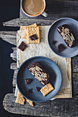 No bake chocolate and biscuit cake