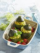 Filled round zucchinis
