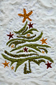 Christmas tree in spices and sugar