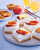 Marchpane cuts with nectarines