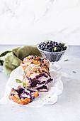 Blueberry babka