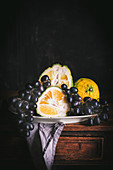 Still Life with Ugli Fruit and Grapes