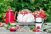 Erdbeerpavlova