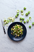 Brussels sprout salad with nuts