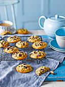 Choc Chunk Cookies mit Cashewkernen und Cranberries