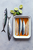 Marinated mackerels