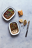 Poultry liver terrine