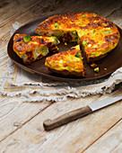 Broccoli and pepper frittata