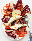 Radicchio and blue cheese salad with apples