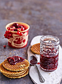 Currant and sour cherry jam