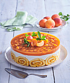 Apricot cake with jelly