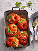 Greek tomatoes with rice filling