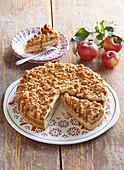 Apple cake with caramel cream