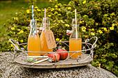 Warmer Apfelsaft mit Zimt und Braunhirse