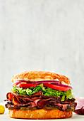 Cubano sandwich with roastbeef