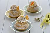 Vegan mini orange ring cakes